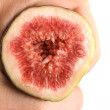 Fig fruit hand — Stock Photo