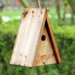 Wooden bird house — Stock Photo