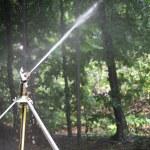 Sprinkler in the park — Stock Photo