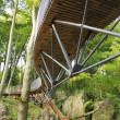 Stock Photo: Modern forest bridge