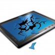 Broken tablet pc illustration - Lizenzfreies Foto