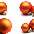 Royalty-Free Stock Photo: Isolated orange christmas spheres collection