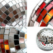 Mirror disco ball decoration mix — Stock Photo