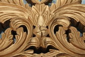 Golden wood decoration — Stock Photo