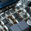 Royalty-Free Stock Photo: Mainboard parts macro shot