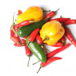 Chillies from above — Stock Photo