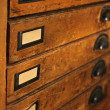 Stock Photo: Cleold drawers