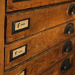 Stock Photo: Letterpress drawers