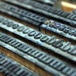 Stock Photo: Old letterpress