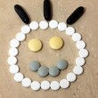 Pill face — Stockfoto