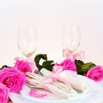 Romantic Dinner for Two Vertical — Stock Photo