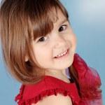 Little Smiling Girl Portrait — Stock Photo