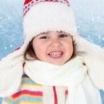 Little Child Girl in Winter Hat — Stock Photo