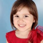 Little Child Smiling Girl Portrait — Stock Photo