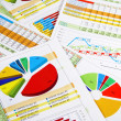 Annual Report in Graphs and Diagrams — Stock Photo