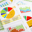 Annual Report in Graphs and Charts - Stock Photo