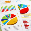 Sales Report in Graphs and Diagrams — Stock Photo