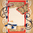 Old Scrapbook Photo Frame - Stock Photo