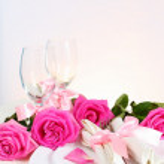 Arrangement for Romantic Dinner Vertical — Stock Photo