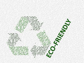 Green ad white recycle logo — Stock Photo