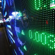 Colored ticker board — Stock Photo