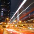 Modern city traffic at night — Stock Photo