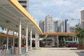 Bus terminal in Hong Kong. — Stock Photo