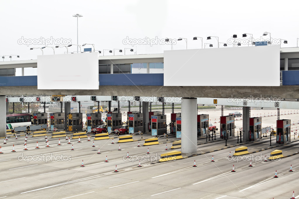 Toll station and Billboard — Stock Photo #10018041