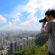 Stock Photo: Photographer take photo of city
