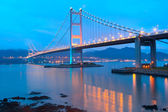 Tsing ma bridge sunset — Stock Photo
