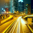 Modern urban city at night — Stock Photo