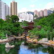 Chinese style park in city — Lizenzfreies Foto
