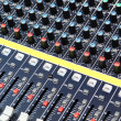 Buttons equipment in audio recording studio - Stock Photo
