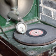 Stock Photo: Vintage analog turntable from seventies