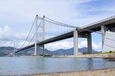 Tsing Ma Bridge at day — Stock Photo