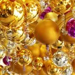 Background made of christmas balls and tinsel — Stock Photo #8610967