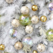 Background made of christmas balls and tinsel — Stock Photo #8610971