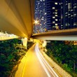 Downtown area and overpass in hong kong — Stock Photo