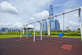 Swing in city at day — Stock Photo