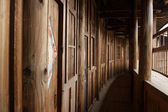 Wood corridor — Stock Photo