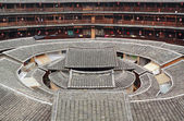 Tulou,a historical site in Fujian china.World Heritage. — Stock Photo