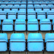 Blue Seats On Stadium — Stock Photo #9467234