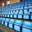 Blue Seats On Stadium — Stock Photo