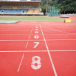 Stadium main stand and running track — Stock Photo