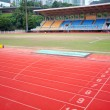 Stock Photo: Stadium main stand and running track
