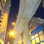 Higher traffic bridge in downtown — Stock Photo