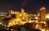 Cement Plant at night — Stock Photo