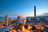 Cement Plant and power sation in sunset — Stock Photo