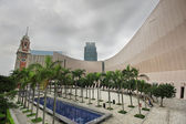 Architecture structure of Hong Kong Cultural Centre over sky — Stock Photo