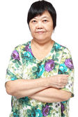 Asian woman on white background — Stock Photo